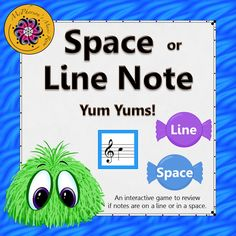 Get ready for the giggles!! Are you starting to prep reading pitches on the treble clef? Help your students understand if the note is on a line or in a space with this student interactive game and then assessing the concept!