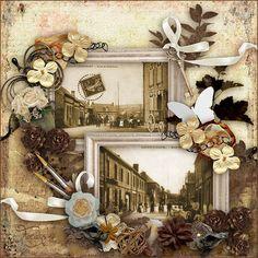 """Kit """"Old Vintage"""" by Love Crea Design Photos: cartes postales anciennes du village de ma jeunesse"""