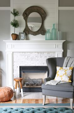 The Inspired Room Family Room Fireplace Makeover