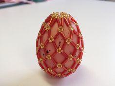 Пасхальное яйцо. eaded easter egg. Very easy. Простая сеточка. Часть 22