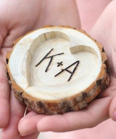 Love this Personalized Tree Slice Ring Holder on #zulily! #zulilyfinds