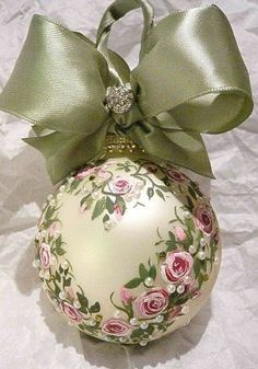 Victorian décor/ decorated Christmas ball                                                                                                                                                                                 More