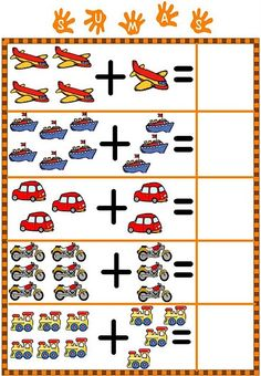 Spring Math Centers for Kindergarten Math Addition Worksheets, Kindergarten Math Worksheets, Preschool Activities, Numbers Preschool, Preschool Printables, Preschool Learning, Math For Kids, Fun Math, Alphabet