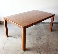 1960s Parsons Oak Dining Table $800 - Berwyn http://furnishly.com/catalog/product/view/id/4601/s/1960s-parsons-oak-dining-table/