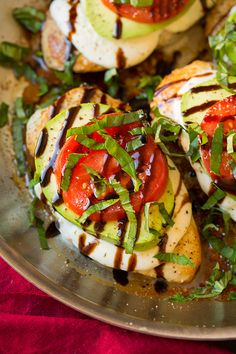 The Caprese (tomato, basil, fresh mozzarella and balsamic vinegar) combination is one of the worlds best ingredient combinations...and then you add avocado