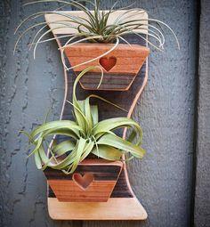 Wood Planters, Indoor Planters, Succulent Planter Diy, Succulents, Garden Care, Plant Holders, Air Plants, Wood Wall, Modern Decor