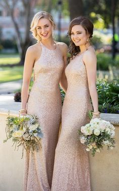 8846 High-Neck Sequin Bridesmaid Gown by Sorella Vita