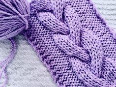 Trenza a Dos agujas de Tres Gajos (columnas) paso a paso. - YouTube Baby Sweater Patterns, Stitch Patterns, Knitting Patterns, Lace Knitting, Knitting Stitches, Knit Crochet, Crochet Videos, Baby Sweaters, Crochet Clothes