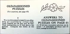 In our 1963 edition of The Old Farmer's Almanac, we published the following puzzle. Will you be able to solve it?