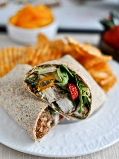 Pecan Crusted Chicken Wraps with Strawberry Honey Mustard