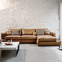 Lifestyle Modern Italian Top Grain cow leather sofa for home furniture