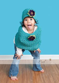 Caplet & Hat Set crochet - So cute, wish I knew how to crochet!