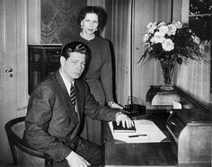 Ex-King Michael of Romania in exile in Lausanne with his mother.
