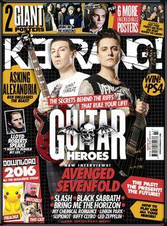 La portada de la siguiente Kerrang! que parece hacer hincapié en los riffs y demás técnicas de guitarra empledas por Zacky Vengeance y Synyster Gates (a7x, 2015)