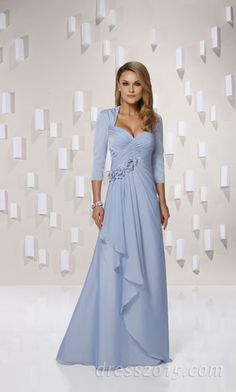 Beautiful Light Blue evening gown ~ This is more my style. It's actually something I would wear.