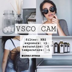 VSCO cam photo edit tutorial