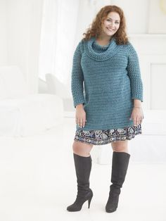 If you have curves and hips like I do, you know the frustration of trying to find a free knitting pattern that will fit and flatter your body.  To help with this, Lion Brand patterns have released two new free crochet patterns and two free knitting