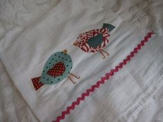 Appliqued dish towels from The Pleated Poppy