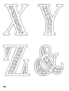 letras x-z