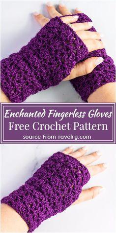 Crochet Fingerless Gloves Free Pattern, Crochet Mitts, Crochet Cowl Free Pattern, Fingerless Mitts, Free Crochet, Crochet Patterns, Knit Crochet, Crochet Wrist Warmers, Hand Warmers