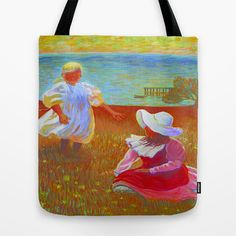 THE SISTERS - Reproduction of American Impressionist Frank Benson painting from 1899 Tote Bag