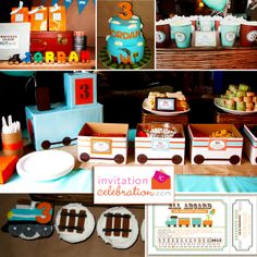 "Photo 1 of 17: Vintage Train Party / Birthday ""Train Birthday"" 