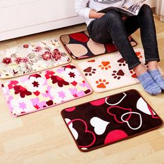 40x60cm Padded European-style Mats Porch Various And Creative Absorbent Anti-skid Carpet Mats