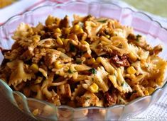 Sałatka makaronowa z kurczakiem Healthy Dinner Recipes, Cooking Recipes, Appetisers, Finger Foods, Pasta Salad, Food Inspiration, Macaroni And Cheese, Salads, Food Porn