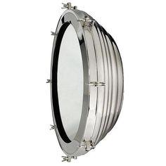 Porthole Round Mirror - Polished Nickel