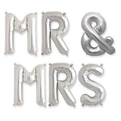 """Hortense B. Hewitt Mr & Mrs Balloon Kit - Silver (16"""")"""