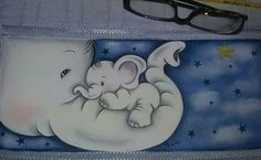Painting Patterns, Painting For Kids, Elephant, Snoopy, Textiles, Embroidery, Cute, Fictional Characters, Fabric Crafts