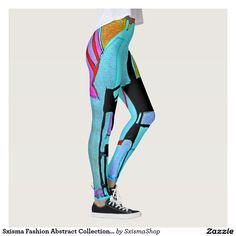Shop Sxisma Fashion Abstract Leggings created by SxismaShop. Custom Leggings, Printed Leggings, Workout Leggings, Look Cool, Leggings Fashion, Dressmaking, Colorful Leggings, Things That Bounce, Cool Designs