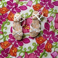 White and tan Stride rite sandals White Stride rite sandals Stride rite Other