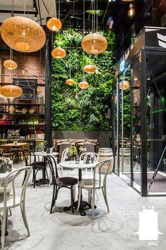 #restaurantdesign #restaurantinterior #restaurant #cafe #verticalgarden