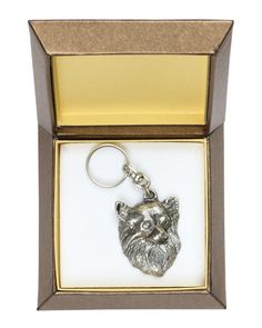 NEW Chihuahua long haired dog keyring key by ArtDogshopcenter