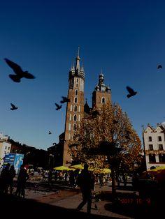 The Church.  Birds. Autumn.