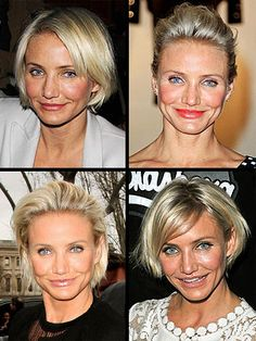 Cameron Diaz: I am obsessed with your new do and all the ways you style it! I almost want to cut my hair....