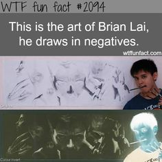 Brian Lai art, Negatives drawing - WTF fun facts