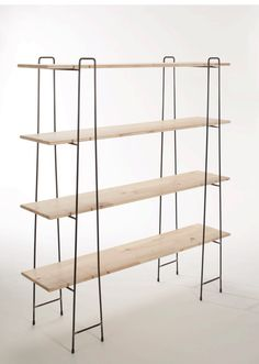 3 shelf units.metal ands wooden shelves to be painted Paris Grey
