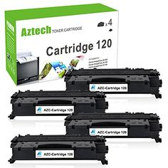 Aztech 4 Pack Replaces Canon 120 (2617B001AA) CRG 120 Toner Cartridge 5,000 Pages High Yield For Canon D1350 D1150 D1320 D1180 Printer #Aztech #Pack #Replaces #Canon #(BAA) #Toner #Cartridge #Pages #High #Yield #Printer