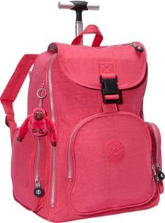 Kipling Alcatraz II Rolling Backpack Vibrant Pink - via eBags.com! Kipling Backpack, Kipling Bags, Rolling Bag, Back To School Fashion, Backpack With Wheels, Cleaning Materials, Indoor Swimming, Swimming Pools, Fashion Backpack