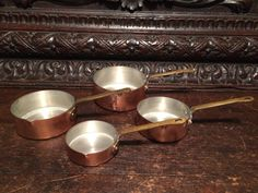 A personal favorite from my Etsy shop https://www.etsy.com/listing/273647278/solid-copper-measuring-cups-set-of-4
