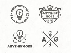 Here are a few of the logo/mark concepts I passed over to Tim Smith earlier for his new company Anythin' Goes - design by Vic Bell on @dribbble  I was really honoured that Tim asked me to work on this logo for him. Having a lot of...
