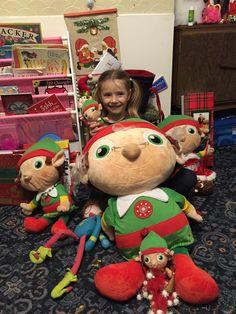 Saying goodbye to the elves on Christmas Eve.