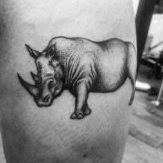 #tattoo #inked #inkedup #ink #dotworktattoos #dotwork #dotworktattoo #rhino #animal #blackwork #blackworkerssubmission #tatuering #tatueringar by razpjutin Leg Tattoos, I Tattoo, Cool Tattoos, Geometric Tattoo Leg, Rhino Tattoo, Best Tattoo Designs, Dot Work Tattoo, Rhinoceros, Future Tattoos