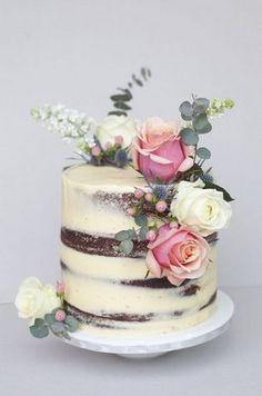 BOLO NAKED CAKE CASAMENTOS E ANIVERSÁRIOS FLORAIS