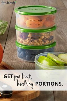 Stick to your health goals with our portion control set. Keep food fresh all day with reusable ice packs right in the lids! Learn more atwww.fit-fresh.com #fitfresh