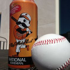 """""""Wave that baby bye-bye!"""" New Orioles season. New (handsome) Natty Boh can."""