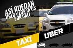 Infografía: Así ruedan Uber y los taxis por Cali