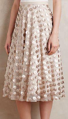 shimmer gold dotted skirt